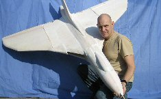 Electric RC Vulcan model aircraft